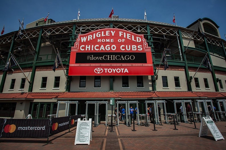 Art Print: Wrigley Field Chicago Illinois front entrance image 1