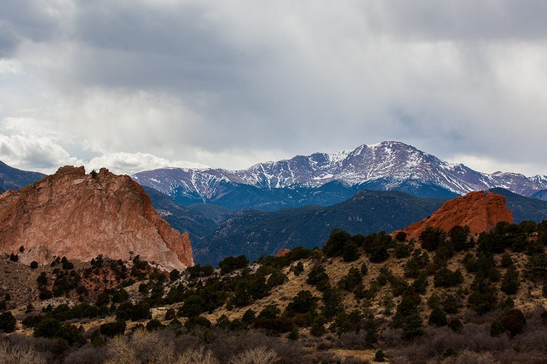 Rocky Mountains in Colorado 2017 Pike's Peak in image 1