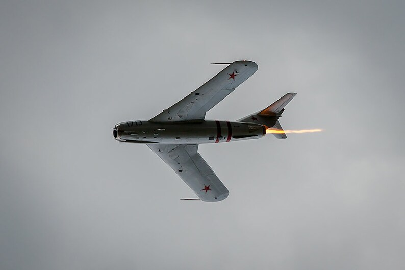 Art Print: MiG-17 N1713P Oshkosh Wisconcin 2018 EAA air image 1