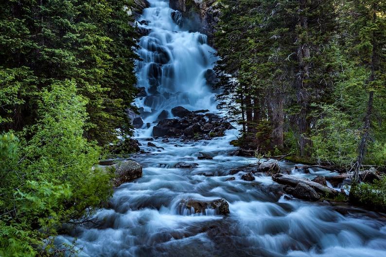 Grand Teton National Park Wyoming waterfall photo No1 Hidden image 1