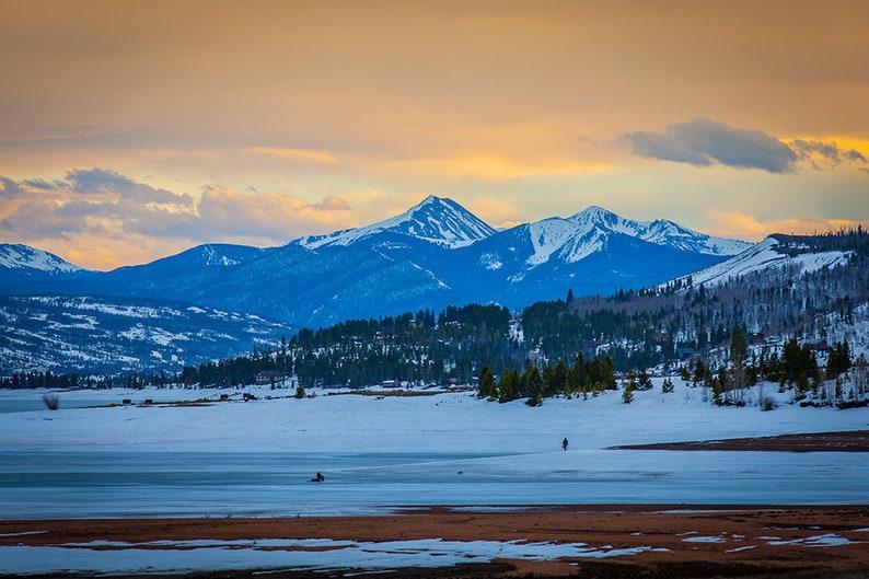 Fishermen Ice Fishing on Lake Granby in Colorado 2017 Rocky image 0