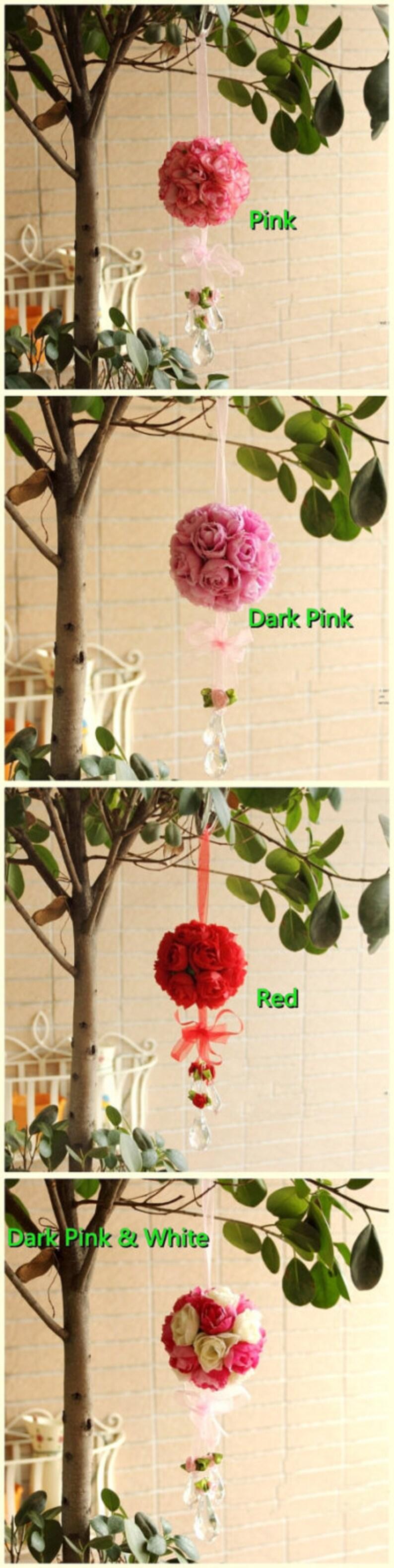 Handmade Rose ball princess real interlobule Artificial flower for wedding home decoration silk 8.5cm 6 colors diameter