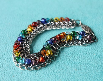 Spectrum Dots bobble chain maille bracelet