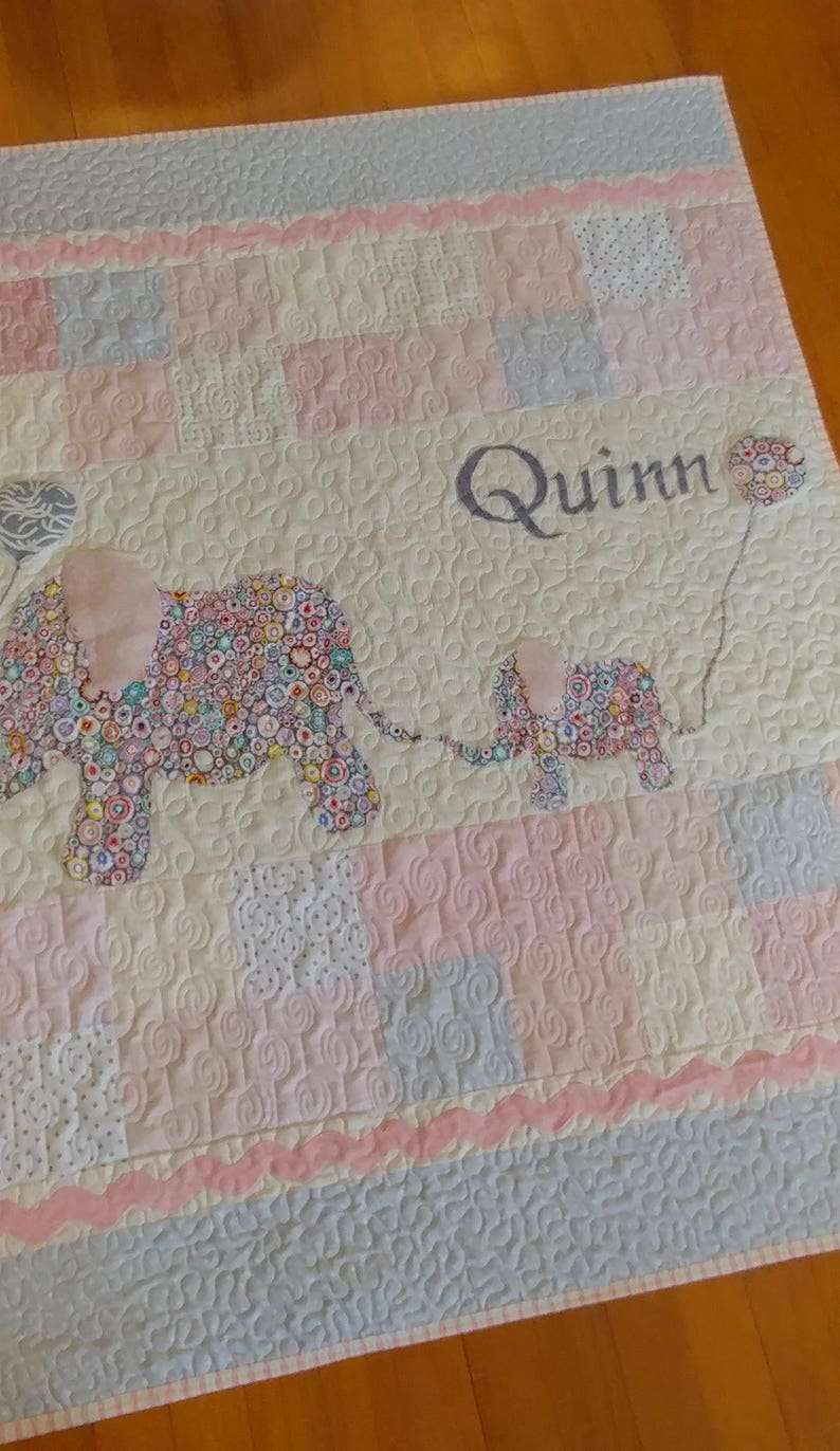 Custom Quilt for Kathy and Conor Personalized Baby Blankets image 0