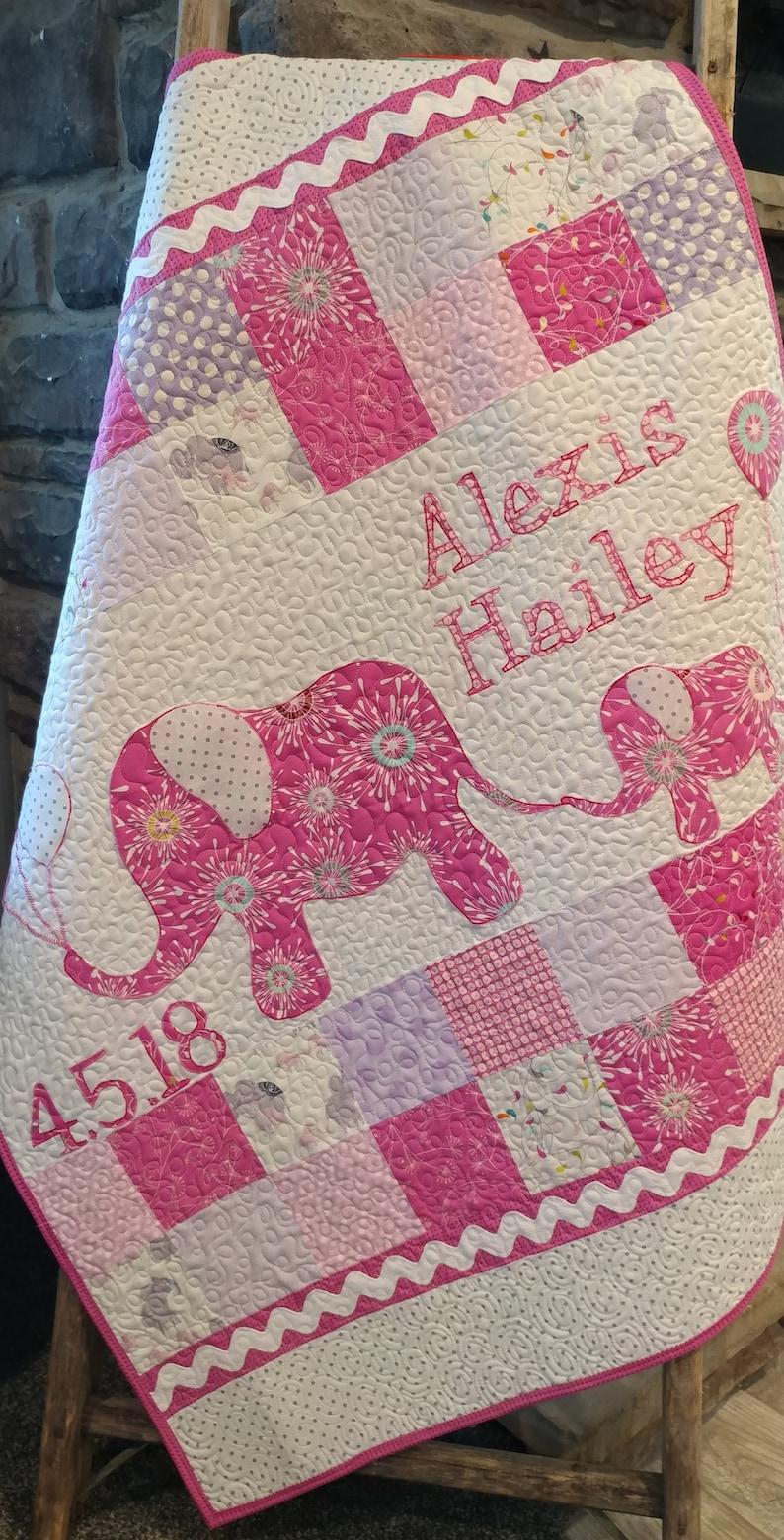 Modern Baby Quilt Blanket Handmade Baby Quilt Blanket image 0