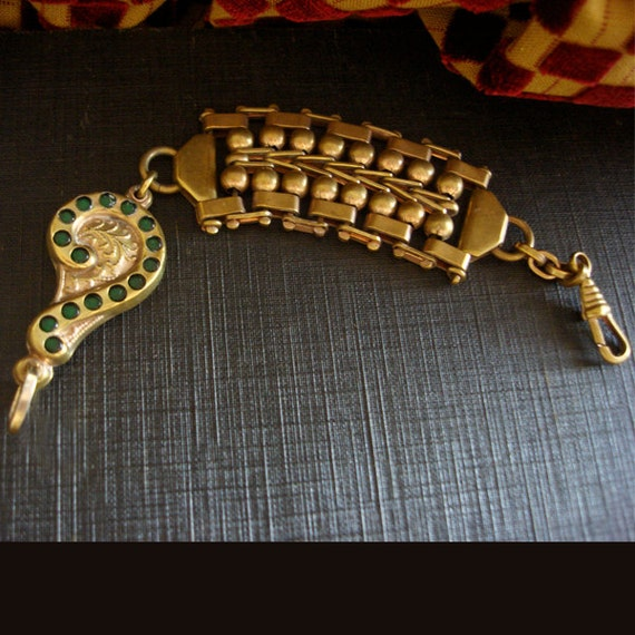Art Nouveau Fob Chain - image 1