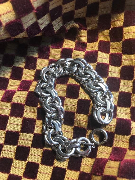Mid Century Silver Starter Charm Bracelet