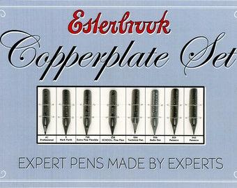 Vintage Esterbrook Copperplate Pen Set with Custom Card Sheet