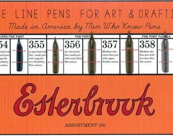 Vintage Esterbrook Art & Drafting Pen Set - Assortment 101 - Pens Circa 1945
