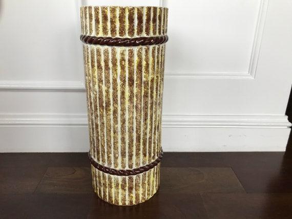 Vintage Mid Century Modern Spanish Ceramic Umbrella Stand Etsy