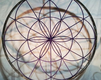 Seed of Life Sacred Geometry Mandala - 6'