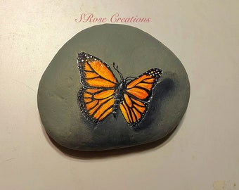 Butterfly Painted Rock