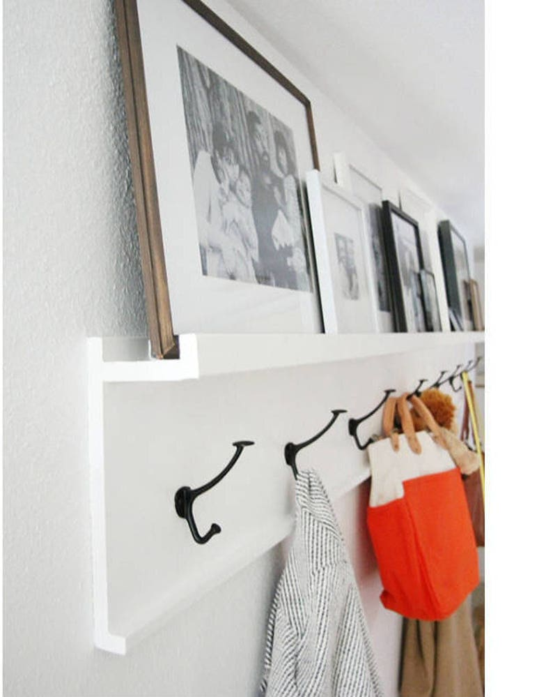 12  36 inch coat rack with shelf entryway organizer rustic image 0