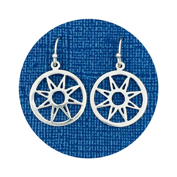 Star Earrings in Sterling Silver - the Victorian Details Architectural Collection - the Village of Round Lake