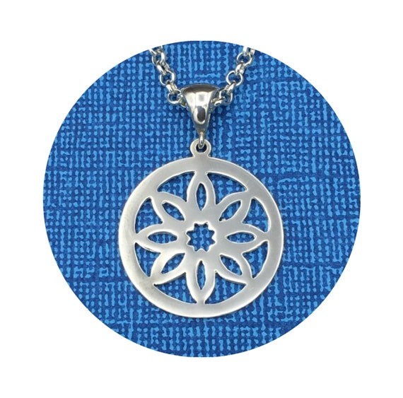 Burlington Star Sunburst Pendant in Sterling Silver - the Victorian Details Architectural Collection - the Village of Round Lake