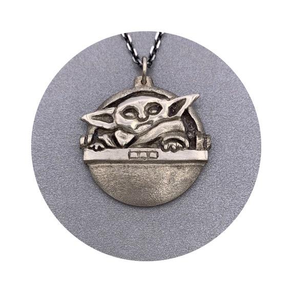 Baby Yoda Pendant - Sterling Silver