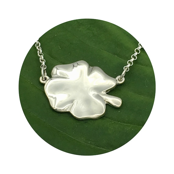 Lucky Four Leaf Clover Sterling Silver Necklace with a Free genuine Lucky Penny!