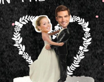 Printable Pin the Couple on the Cake Bridal Shower Poster// Bridal Shower Game