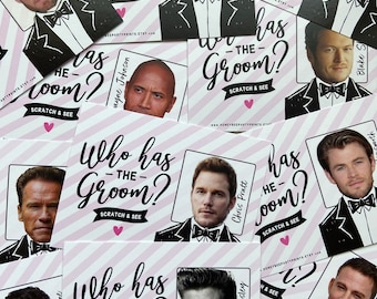 Who has the Groom? | Bridal Shower Game | Scratch off Bridal Shower Game. Funny Bridal Shower Game | Bridal Shower Games