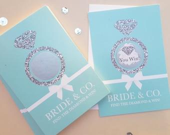 Bride & Co. Bridal Shower Scratch Off cards// Bridal Shower Games// Bachelorette Games