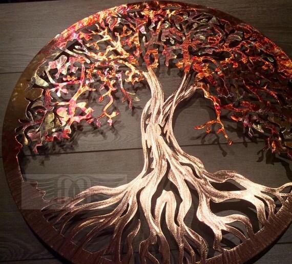 Copper Tree of Life Metal Wall Art 7th Anniversary | Etsy