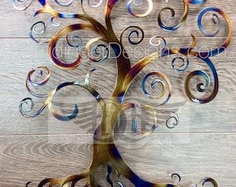 Swirly Tree of Life Metal Wall Art Wall Decor