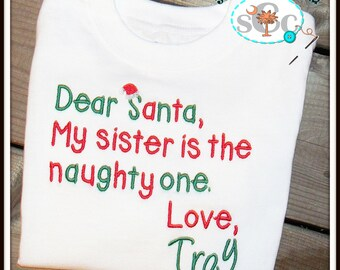 Personalized Sibling Christmas Shirts/Bodysuits, Christmas Shirt, Boys Christmas Shirt, Girls Christmas Shirt