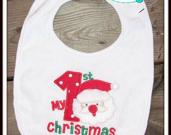 My First Christmas Santa Bib