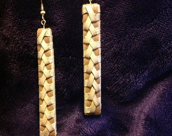 """MAILEER/  Maile earring approximate 2to 21/2 long x 1/2 """" wide"""