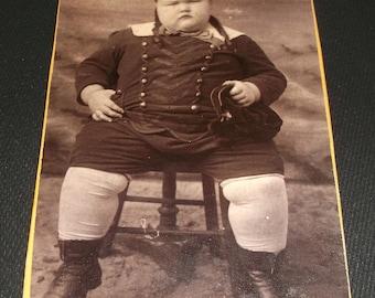 Barnum Type Circus Sideshow Freak, Fat Boy, Harry Castleman,  Cabinet Card
