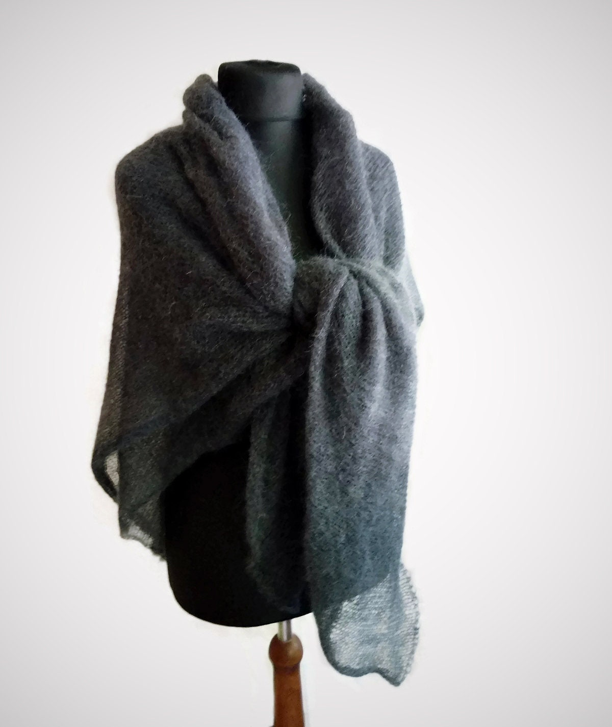 Travel scarf graphite gray wrap oversized scarf mohair etsy for Travel scarf