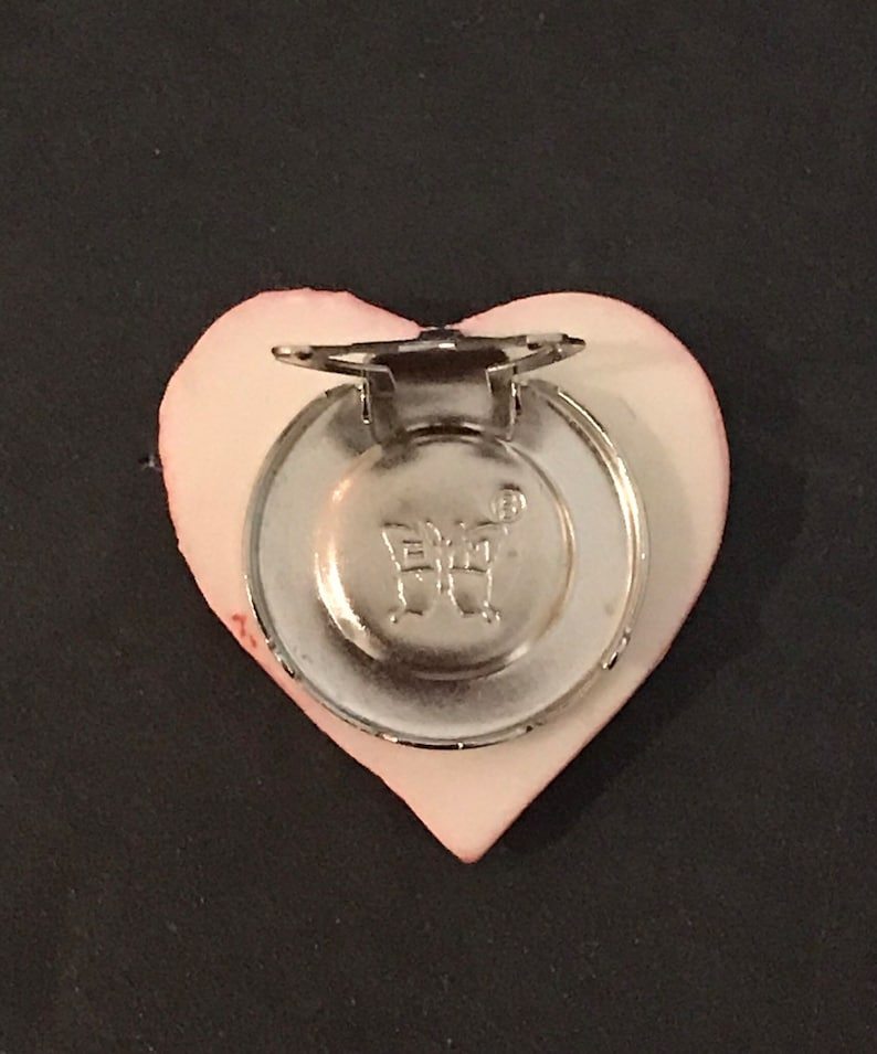 Whimsical Pink Acrylic Heart Shirt Button Cover Shirt Stud Costume Valentine/'s Day