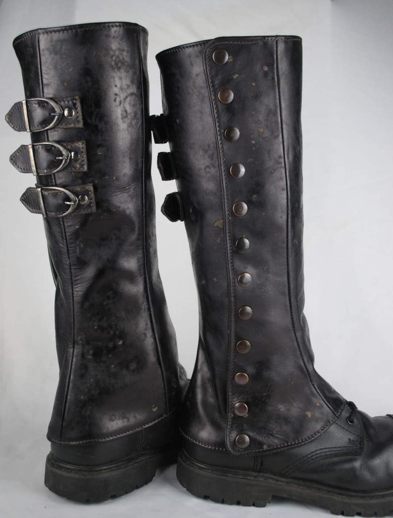 real leather gaiters pair image 1