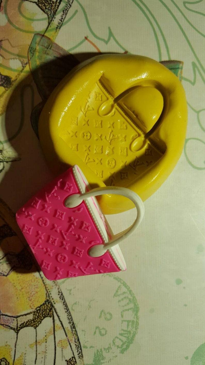 4410e3a87432 Miniature Louis Vuitton Purse Inspired Flexible Silicone Mold