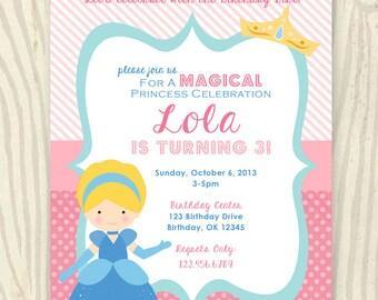 Princess Cinderella Birthday Party Invitation