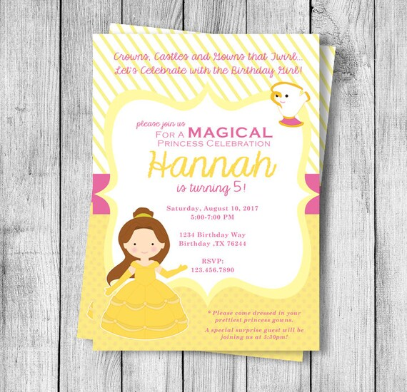 Belle birthday party invitation etsy image 0 filmwisefo