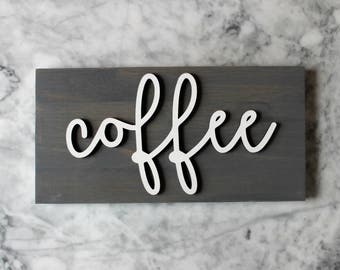 Coffee Sign White and Black