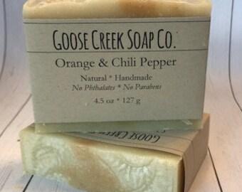 Orange and Chili Pepper Bar Soap