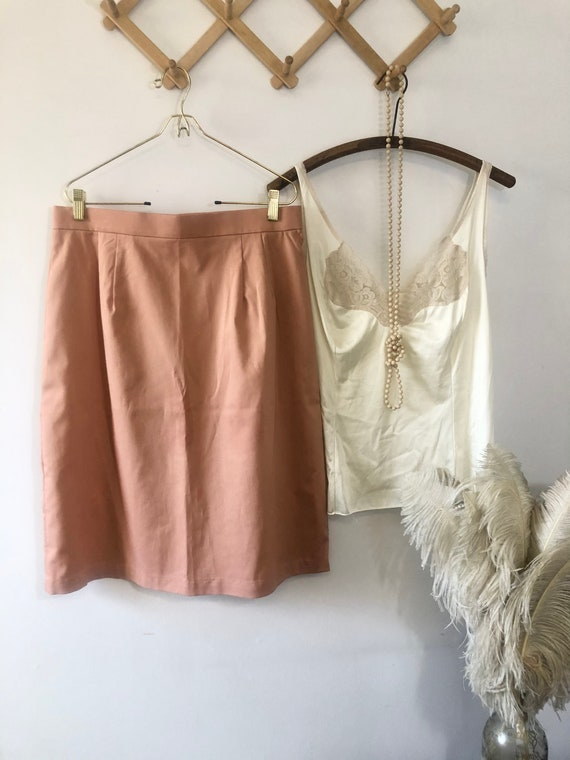 Vintage Mauve skirt, Vintage Pink Skirt, Vintage 8
