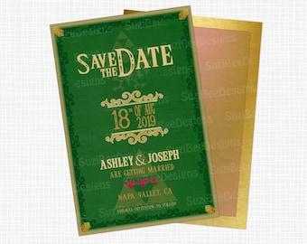 Zelda Save the Date, Wedding Invitation or Shower Invitation - Rupees Printable