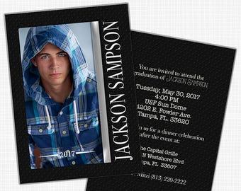 Graduation Announcement, Graduation Party Invitation, Class of 2021 Grad, High School or College Graduate - Printable