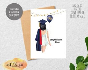 Graduation Card, Graduation Keepsake, Custom Card for Graduate Class of 2021 Keepsake for Her - Personalized Digital Download