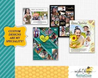 Custom Designed Yearbook Ad, Program Ad,  Sports Ad, Senior Ad, Full Page Ad, Half Page Ad, Quarter Page Ad, Dance Ad, Cheer Ad
