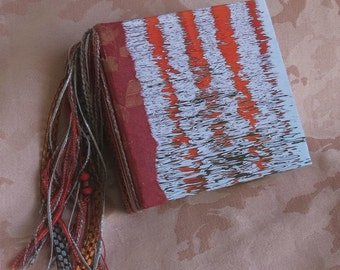 """Journal/Blank book. Tied binding. Use as a scrapbook, memory book, address book. This one is """"Reflection"""""""
