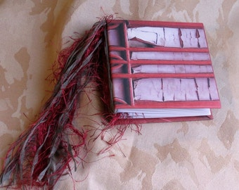 """Journal/Blank book. Tied binding. Use as scrapbook, memory book, address book. This one is """"The Tower Door"""""""