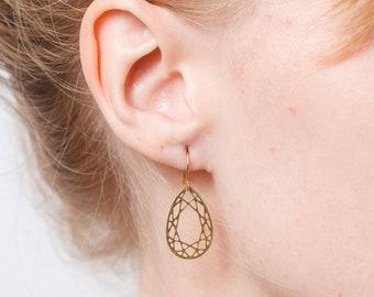 Earrings drop geometric