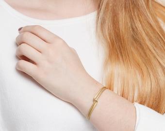 Geometric Bracelet Brass Bar