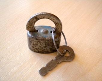 Vintage soviet lock, use for mixed media art, assemblage, 1960s, Soviet Souvenir, USSR