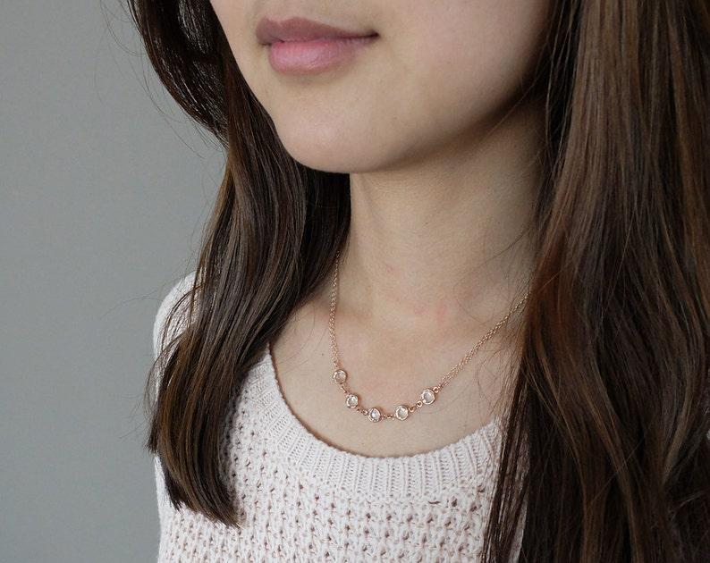 Anastasia Clear/Rose Gold  elegant and classy Swarovski image 0