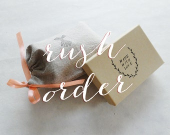 RUSH ORDER + Priority Shipping (add-on)